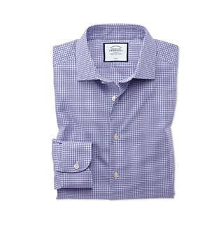 A lilac stretch shirt