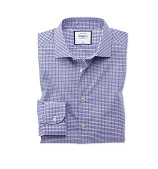A lilac stretch shirt
