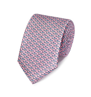 A pink animal tie
