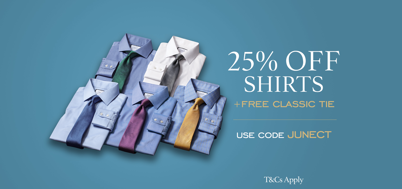 Charles Tyrwhitt 25% off shirts and a free classic tie