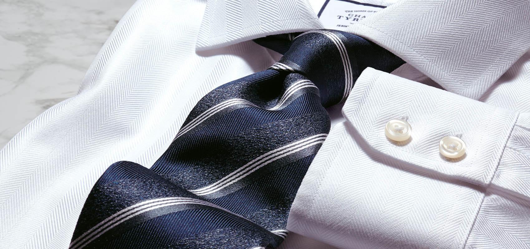 Charles Tyrwhitt Herringbone Weave Shirts