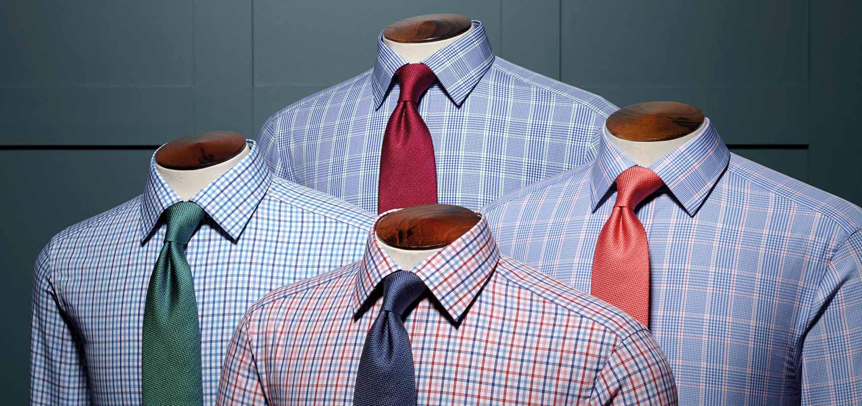 Poplin check shirts