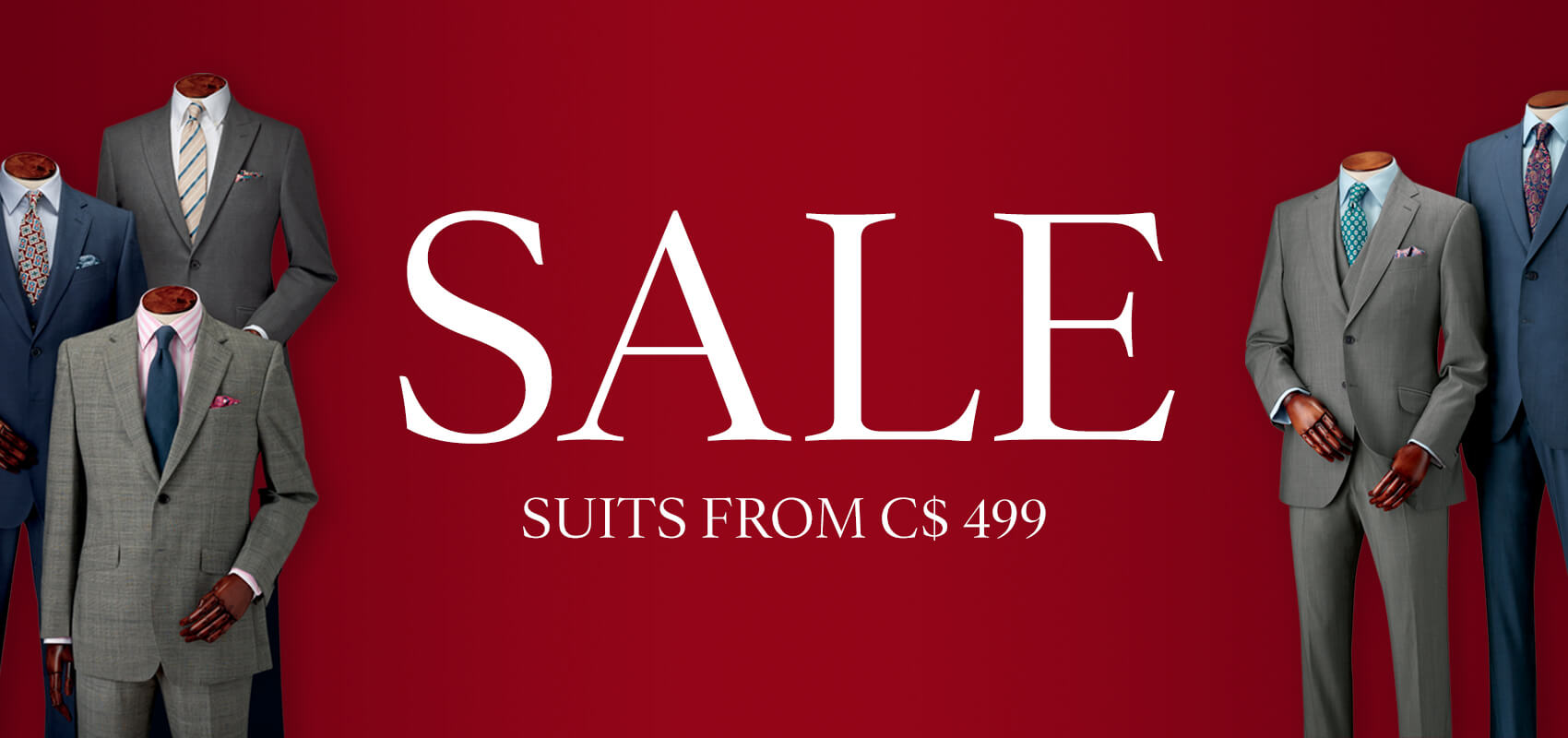 Sale suits from $499
