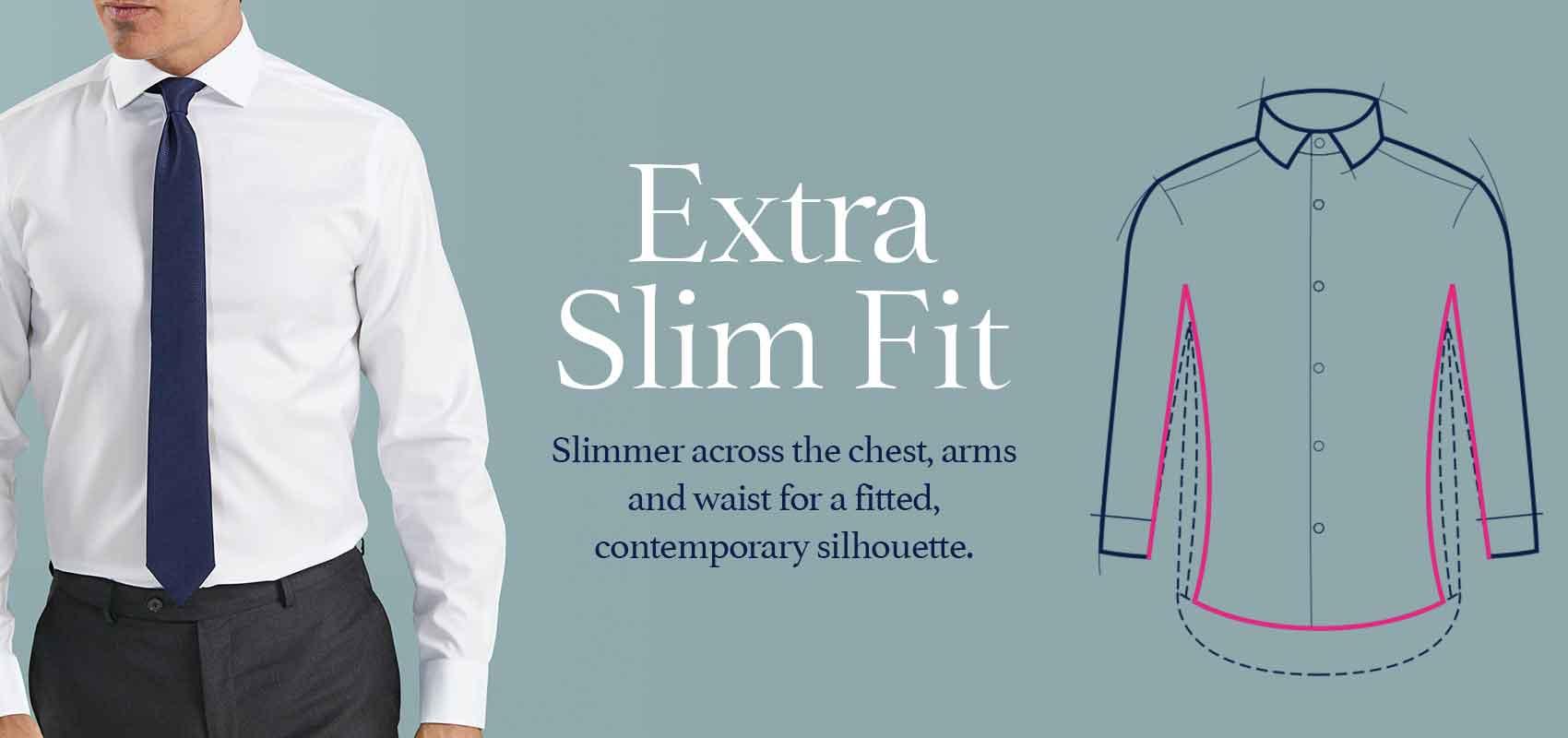 Extra slim fit shirts