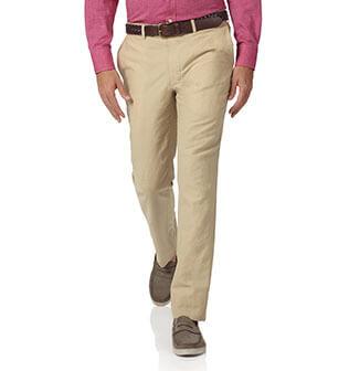 Stone cotton linen pants