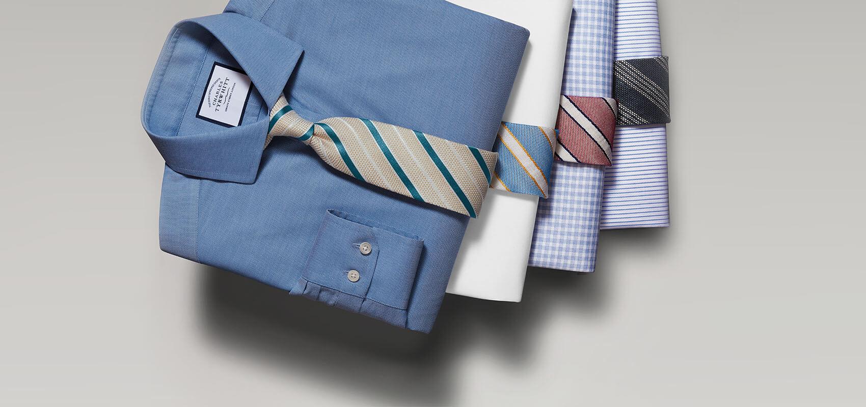 Cotton stretch Oxford shirts