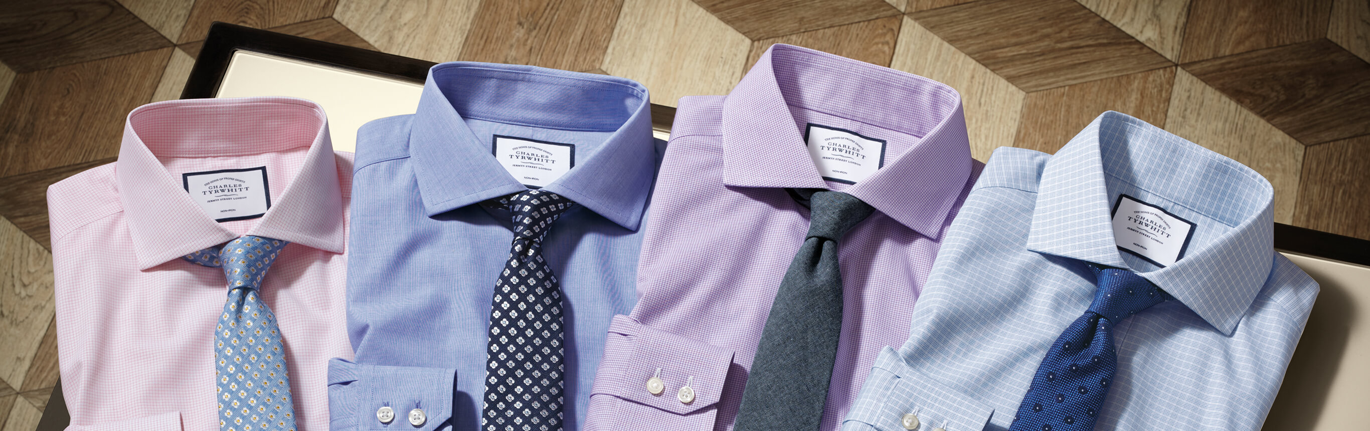 Image of 4 sets of non-iron shirts