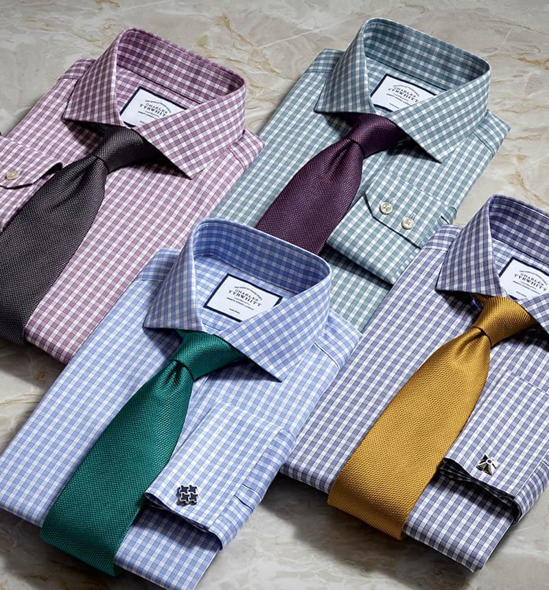 4 checked shirt