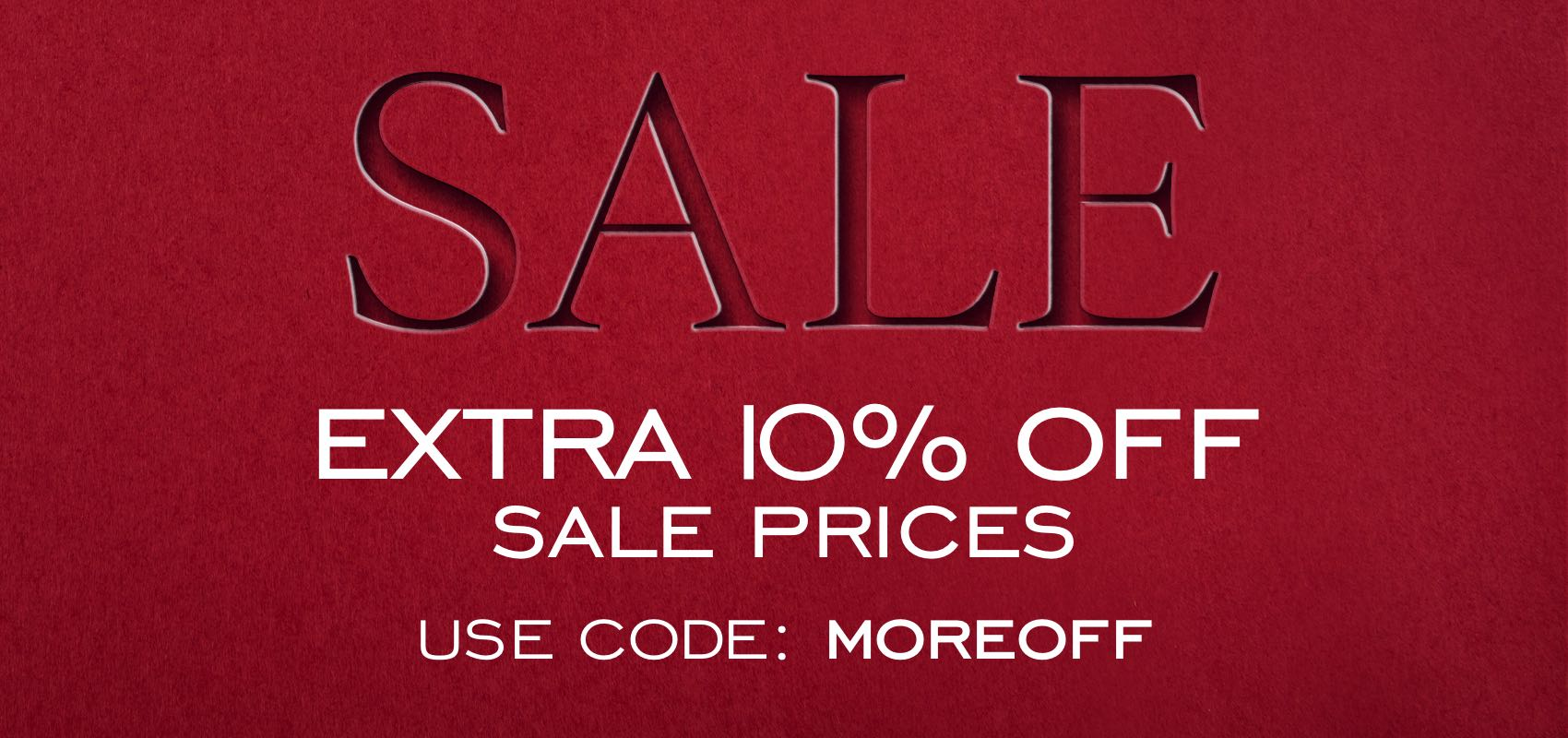 Extra 10% Off sale prices with code MOREOFF