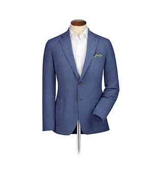 Light blue Italian wool blazer