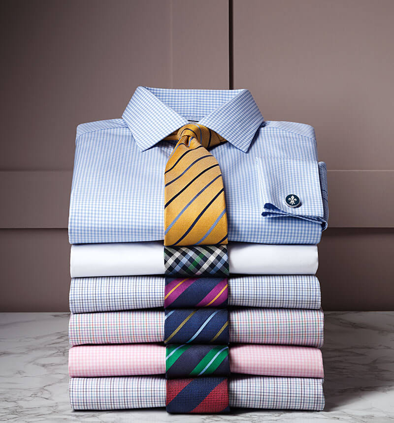 Image showing stack of casual shirts