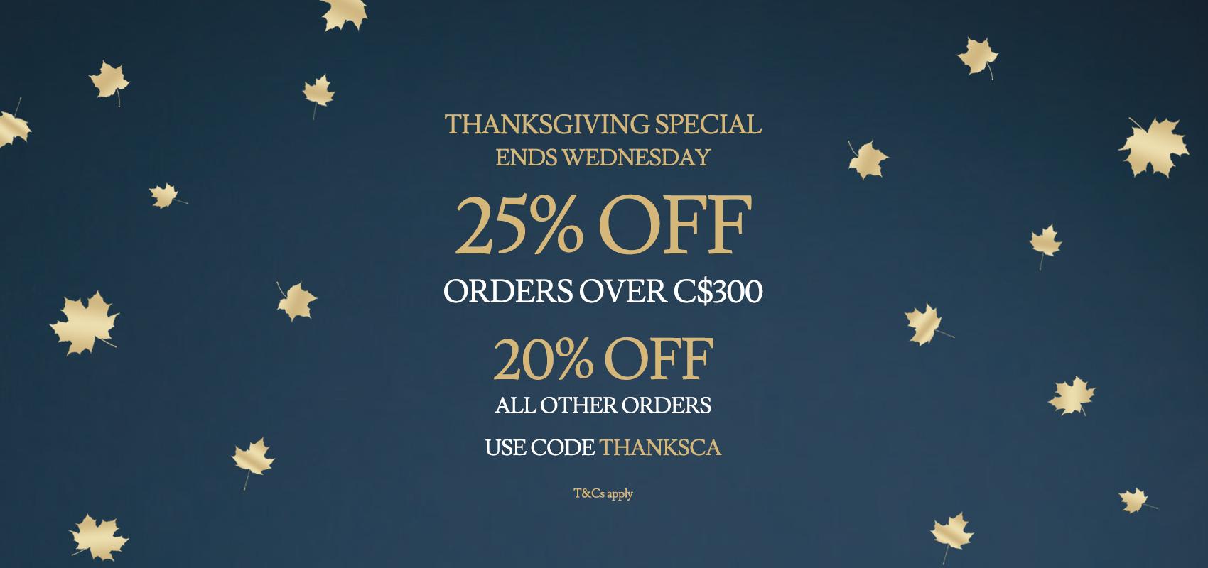 Charles Tyrwhitt Thanksgiving Special