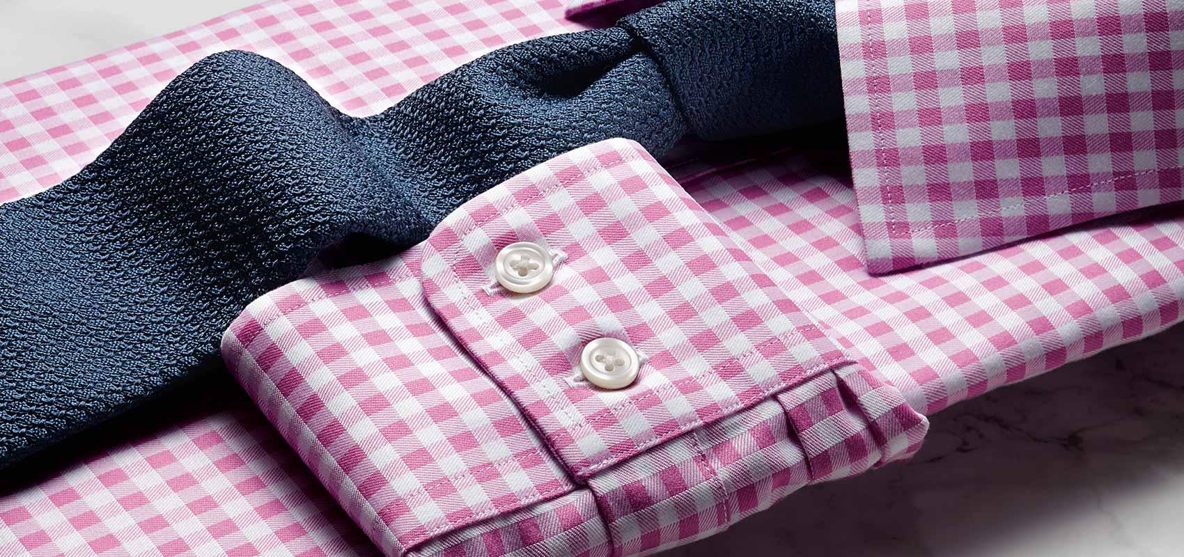 Charles Tyrwhitt men's pink and purple shirts