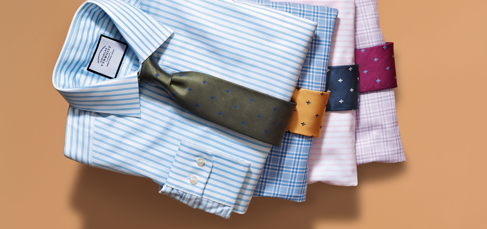 Charles Tyrwhitt Cravates en tissu anti-taches