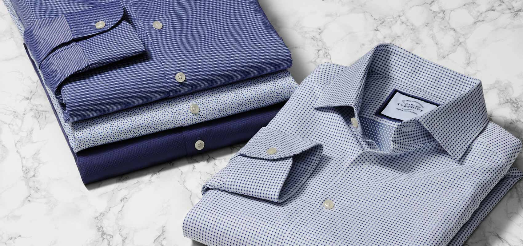 Charles Tyrwhitt blue shirt collection