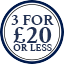 Socks Multibuy Roundel- 3 for £20 or less