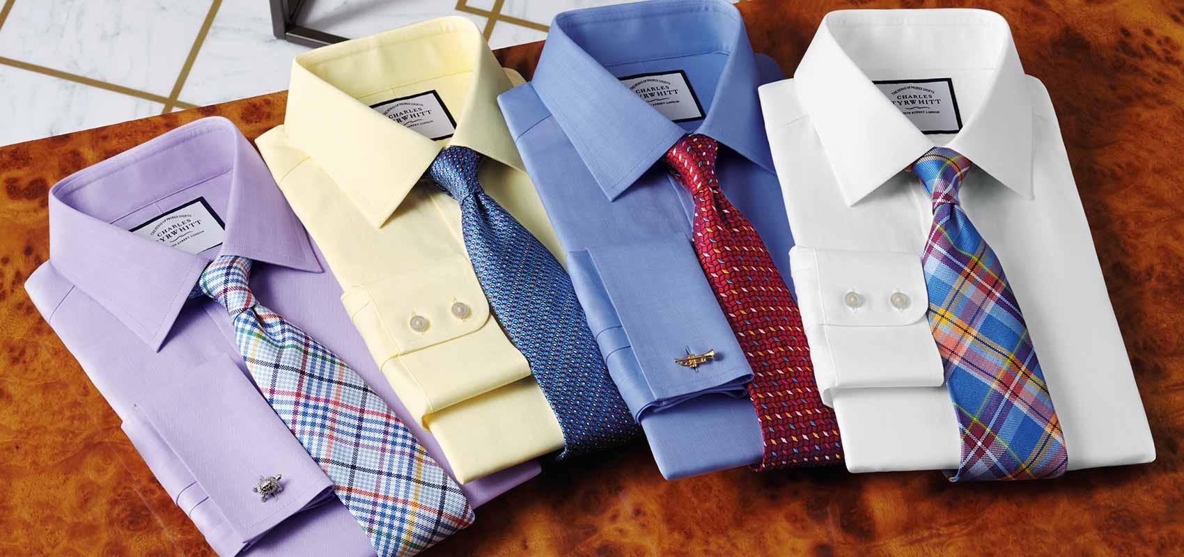 Herringbone weave shirts