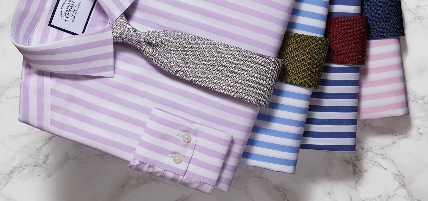 Charles Tyrwhitt stripe shirts