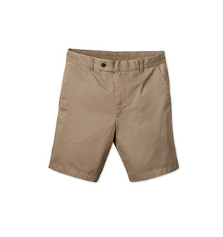 A pair of beige shorts