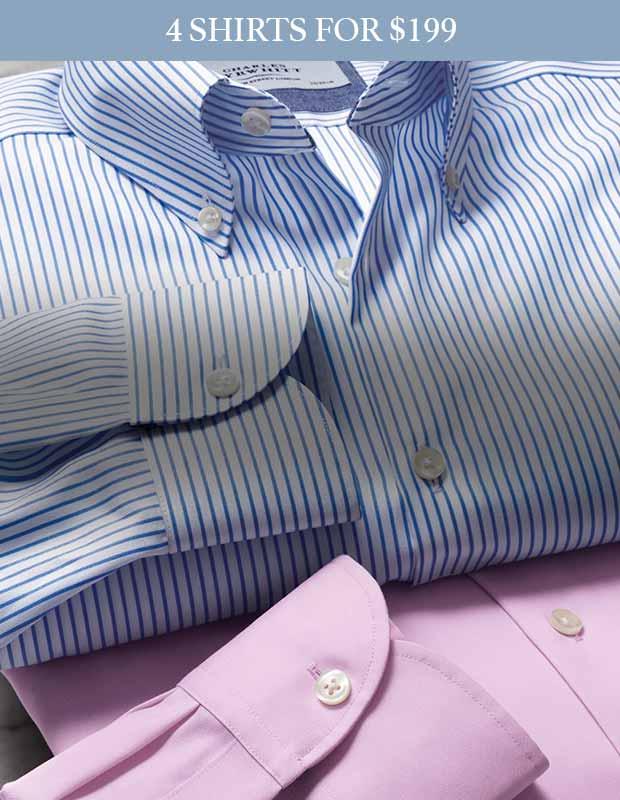 Non-iron button-down shirts