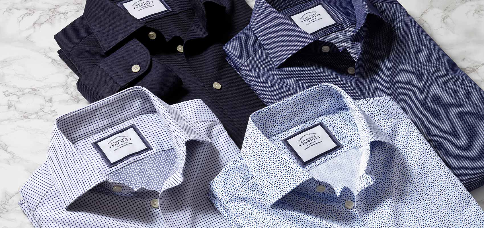 Business casual printed shirts