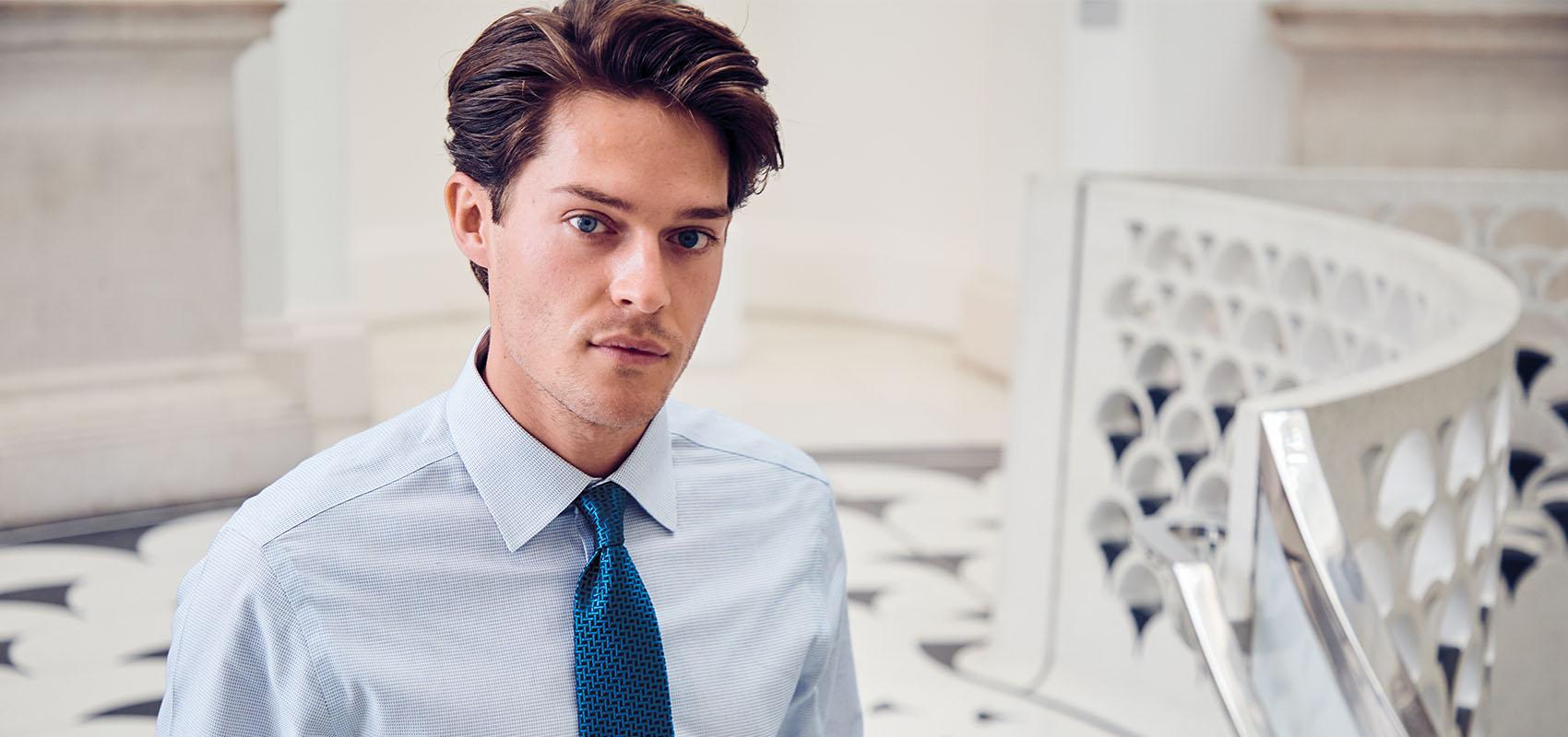 Charles Tyrwhitt Dash Weave Shirts
