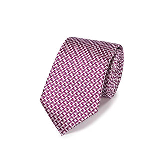 A red and white stain resistant tie