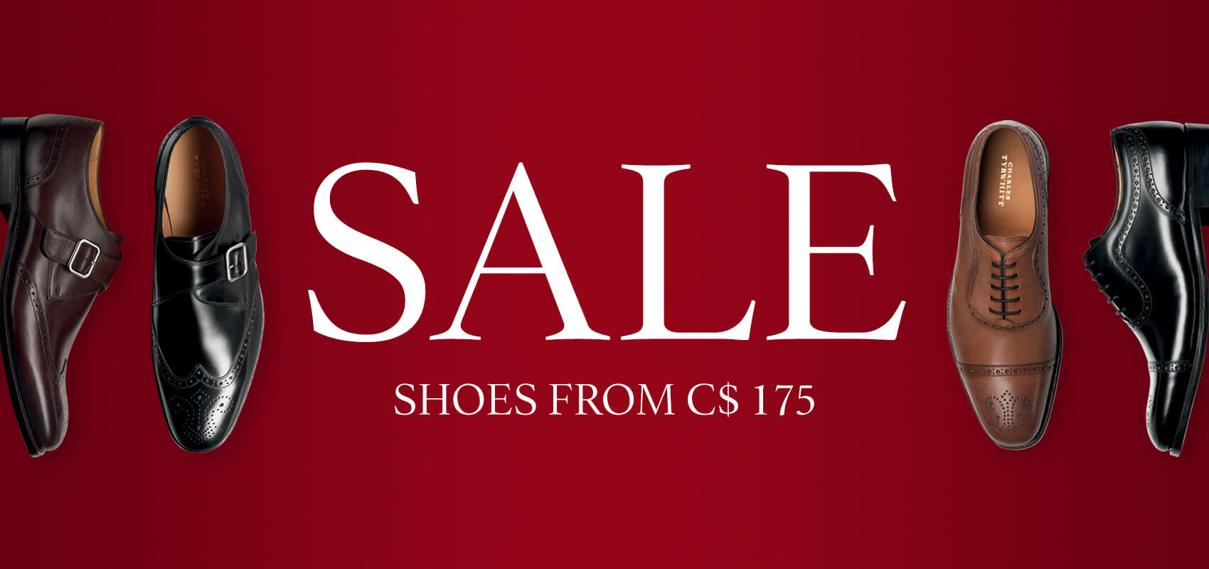 Sale shoes from $175