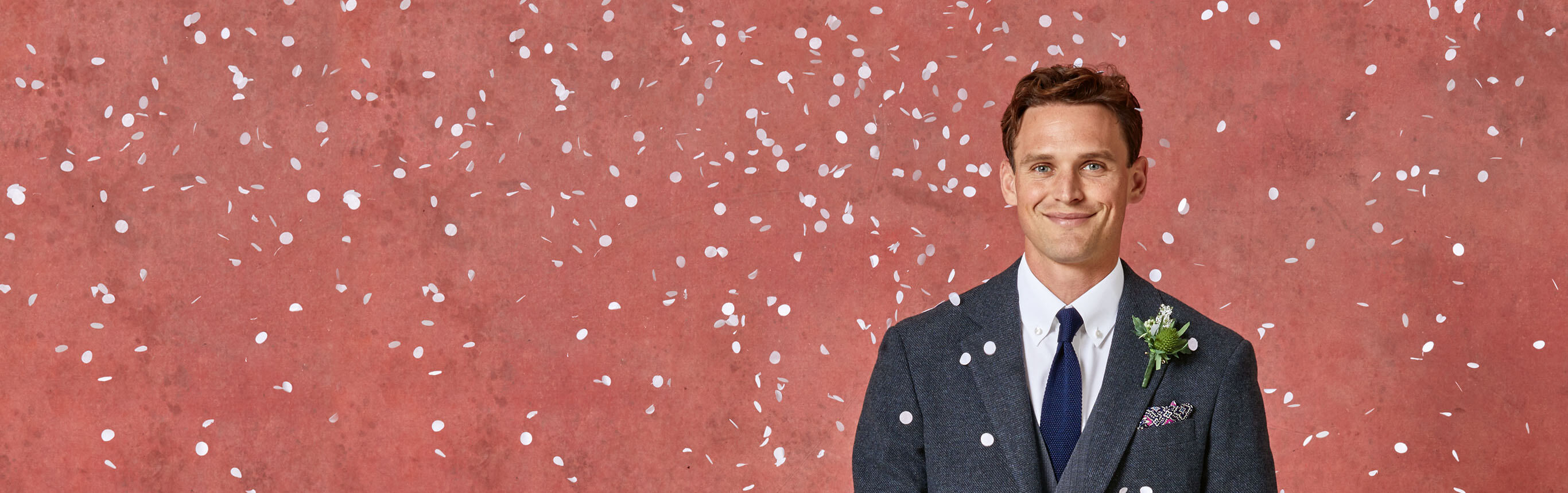 A man with confetti