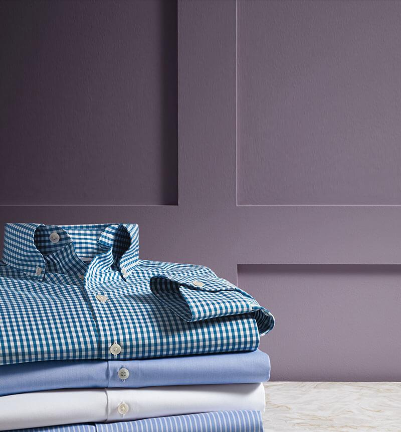 Business-Casual-Hemd Mit Button-Down-Kragen