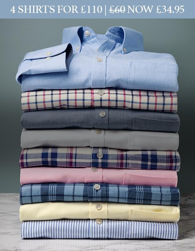 Washed Oxford shirts