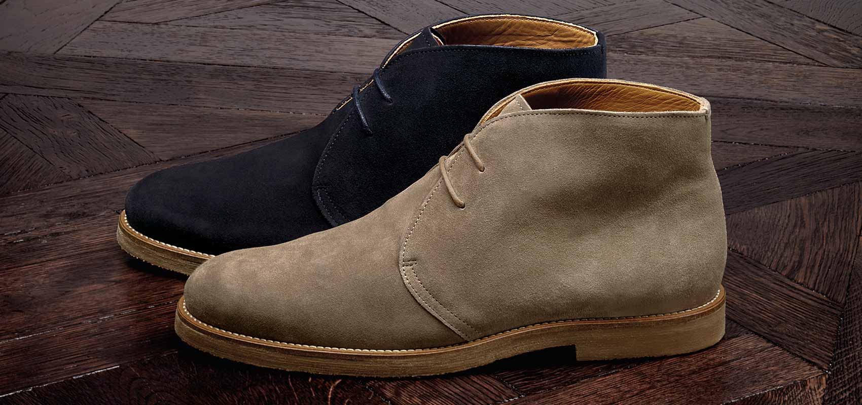 Casual suede desert boots