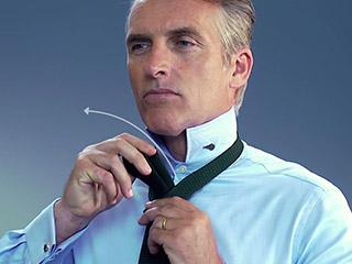 Der Four-in-hand oder einfache Krawattenknoten