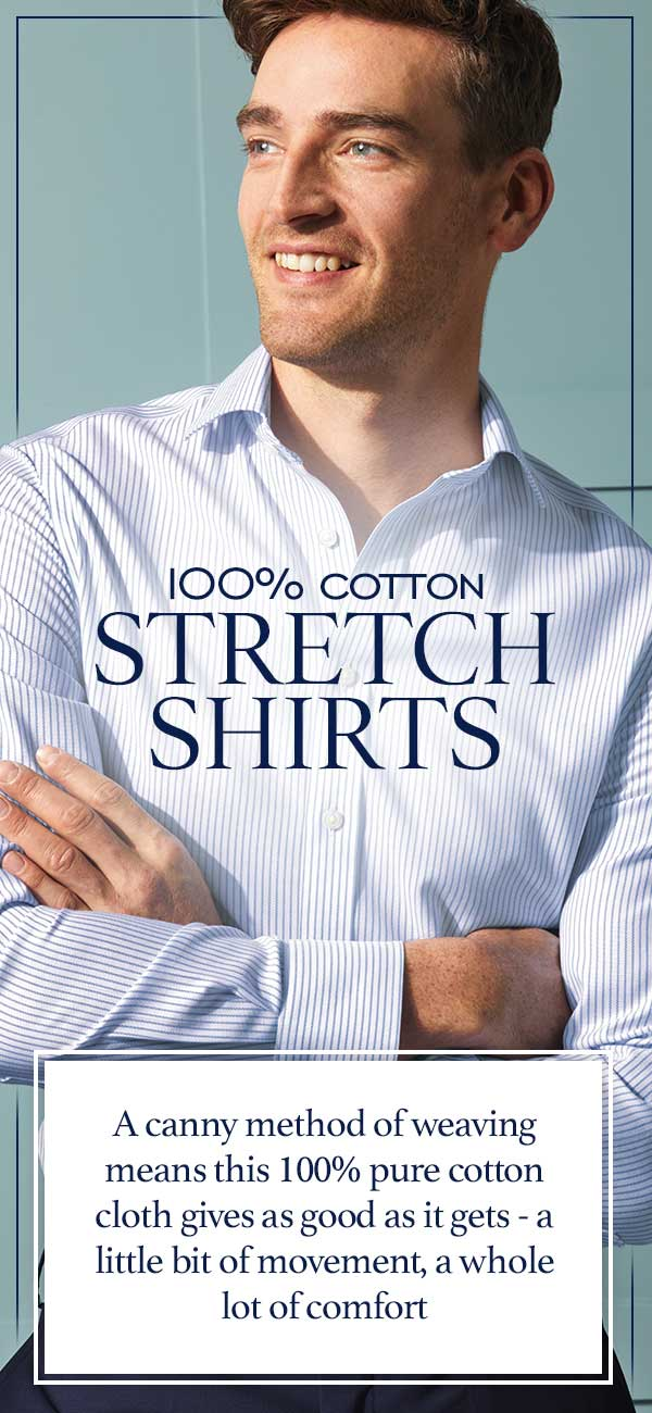 Stretch shirts - 100% cotton