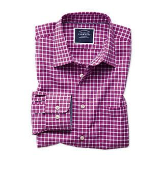 Purple gingham casual shirt