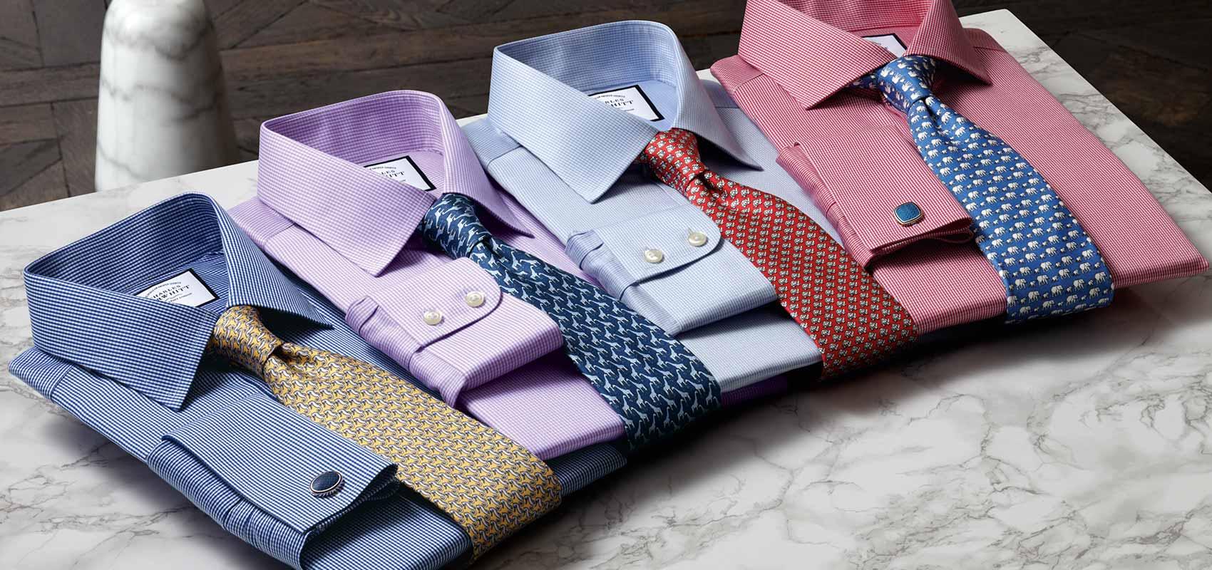 Charles Tyrwhitt Hahnentrittmuster Hemden