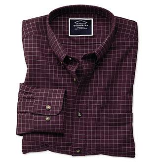 Camisas antiarrugas con cuello con botones